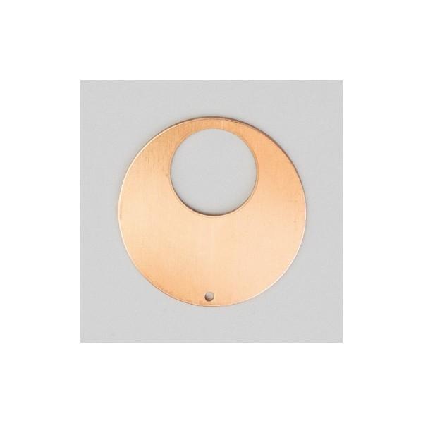 Pendentif en cuivre Rond 1 trou, ébauche de ø 35 mm, émaillage à froid - Photo n°1