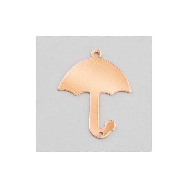 Pendentif en cuivre Parapluie 2 trous, ébauche 35x28 mm, émaillage à froid - Photo n°1