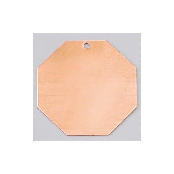 Pendentif en cuivre Octogonal 1 trou, ébauche ø 43 mm, émaillage à froid Efcolor - Photo n°1