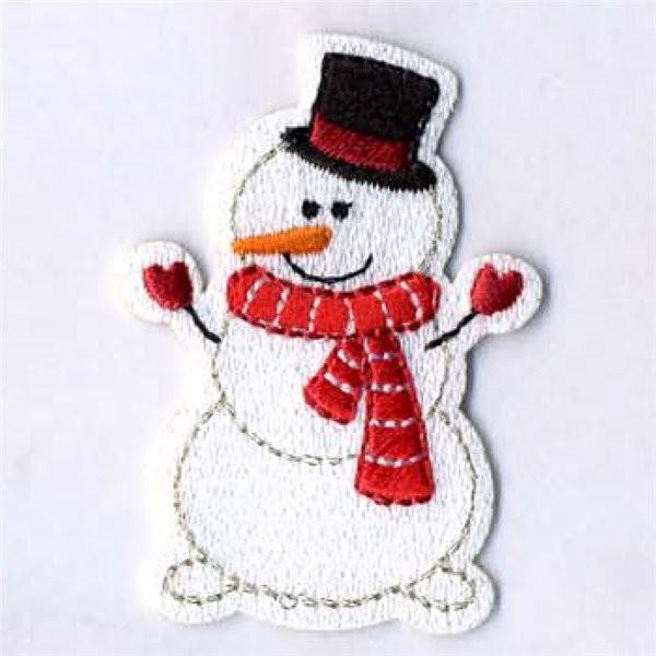Lot de 3 écussons bonhomme de neige avec écharpe 4x5.5cm - Photo n°1