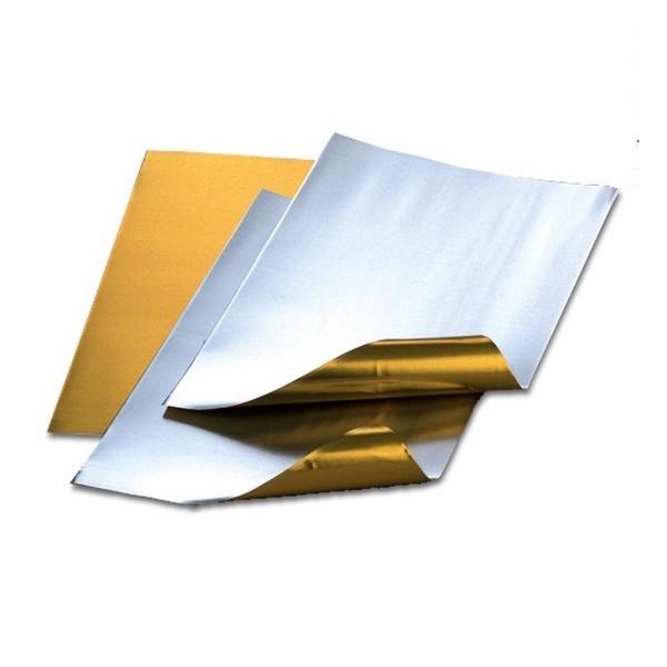 Feuille aluminium découpée, doré / argenté, 20 x 30 cm, ép. 0,15 mm, Lot de 3 - Photo n°1
