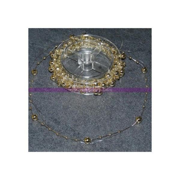 Guirlande décorative de perles Ø 5mm nacrées couleur Doré, 5 mètr - Photo n°1