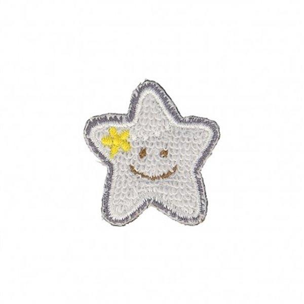 Lot de 3 écussons thermocollants Petite étoile bleue 3cm x 2,5cm - Photo n°1