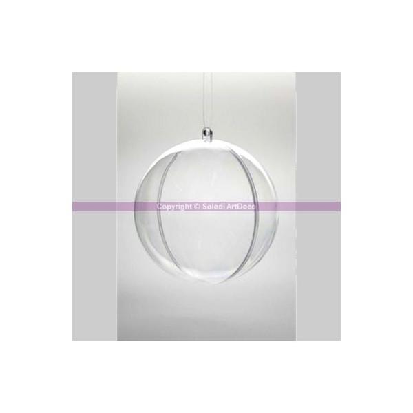 Lot de 5 Boules en plastique cristal transparent séparable, Contenant sécable diam. 5 - Photo n°1