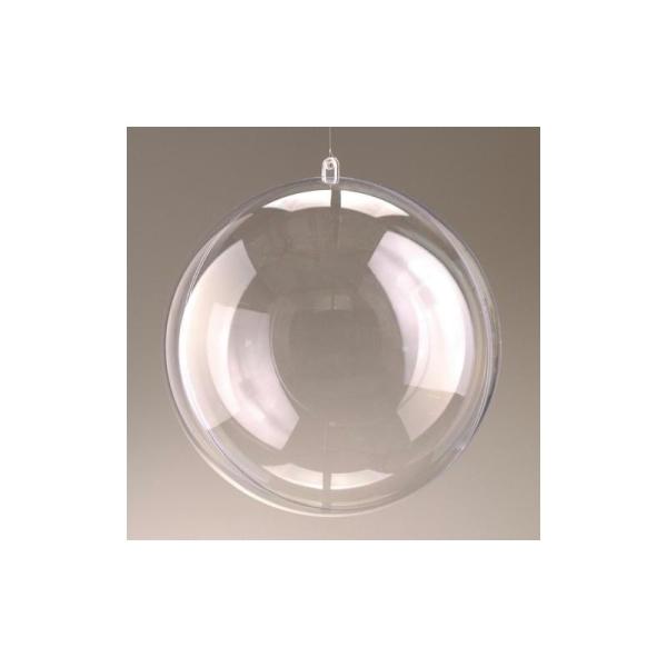 Lot de 5 Boules en plastique cristal transparent séparable, Contenant sécable de diam. - Photo n°1