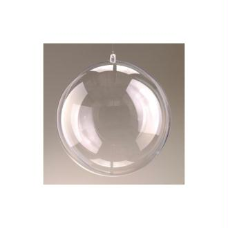 Lot de 5 Boules en plastique cristal transparent séparable, Contenant sécable diam. 10