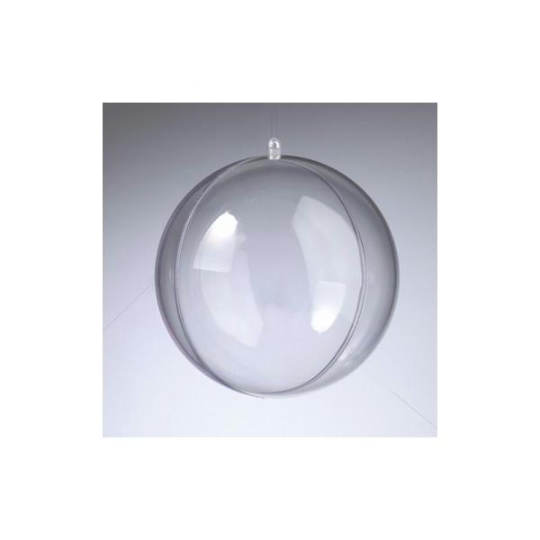 Lot de 2 Boules en plastique cristal transparent séparable, Contenant sécable diam. 14 - Photo n°1