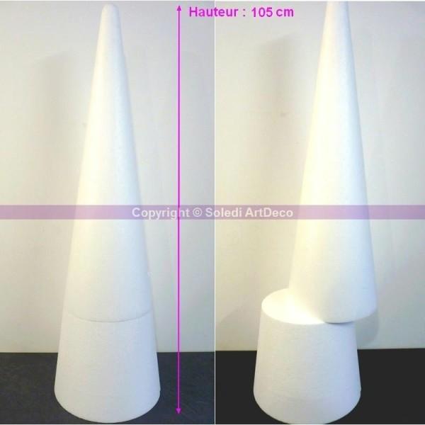 Grand Cône XL 105 cm, Présentoir géant polystyrène pro haute densit&eacut - Photo n°1
