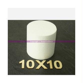 Disque épaisseur 10 cm, diamètre 10 cm, polystyrène pro haute densité, 2