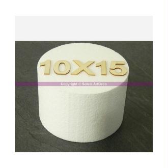 Disque épaisseur 10 cm, diamètre 15 cm, polystyrène pro haute densité, 2