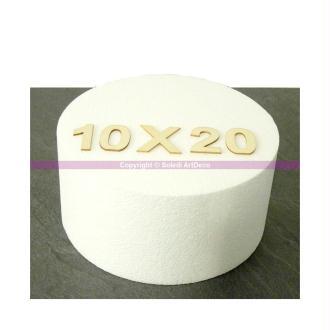 Disque épaisseur 10 cm, diamètre 20 cm, polystyrène pro haute densité, 2
