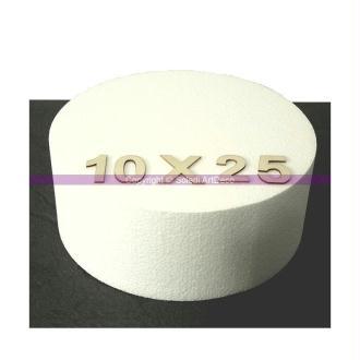 Disque épaisseur 10 cm, diamètre 25 cm, polystyrène pro haute densité, 2