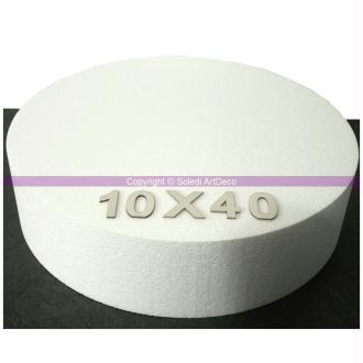 Disque épaisseur 10 cm, diamètre 40 cm, polystyrène pro haute densité, 2