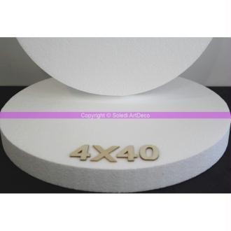 Disque épaisseur 4 cm, diamètre 40 cm, polystyrène pro haute densité, 28