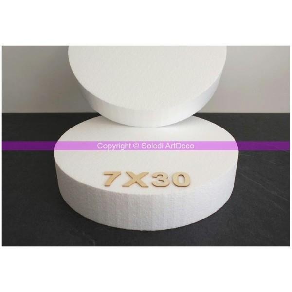 Disque épaisseur 7 cm, diamètre 30 cm, polystyrène pro haute densité, 28 - Photo n°1