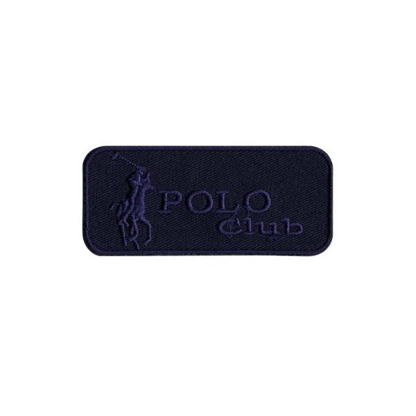 Ecusson Polo Club bleu thermocollant 7x3 cm - Photo n°1