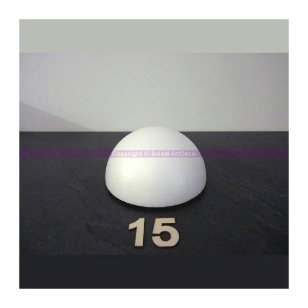 Demi-Sphère de 15 cm de diamètre, Dôme creux en polystyrène - Photo n°1