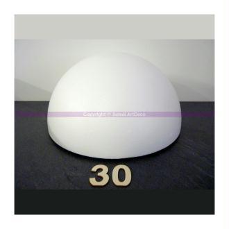 Demi-Sphère de 30 cm de diamètre, Dôme creux en polystyrène