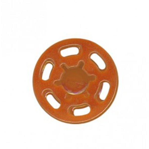 Lot de 6 boutons pression plastique 21mm orange - Photo n°1