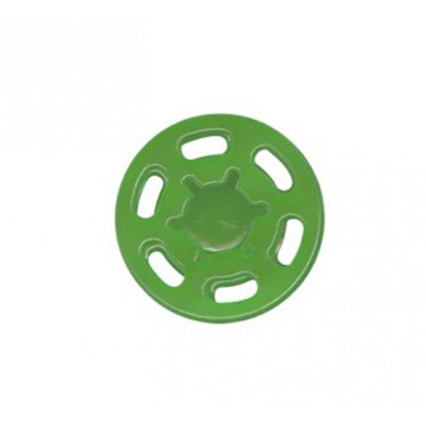 Lot de 6 boutons pression plastique 21mm vert - Photo n°1