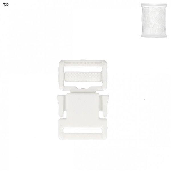 Boucle plastique blanc 48mm x 30mm - Photo n°1