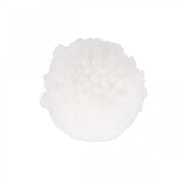 Lot de 12 pompons bouclés blanc 25mm - Photo n°1