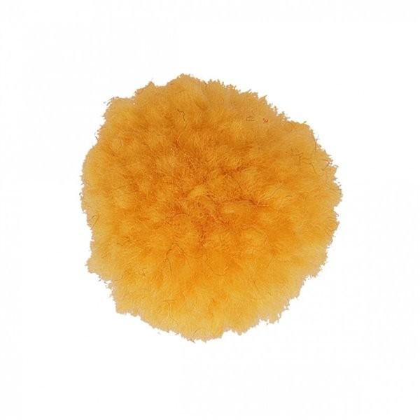 Lot de 12 pompons bouclés jaune maïs 25mm - Photo n°1