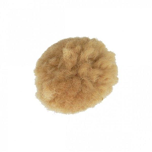 Lot de 12 pompons bouclés beige pierre 25mm - Photo n°1
