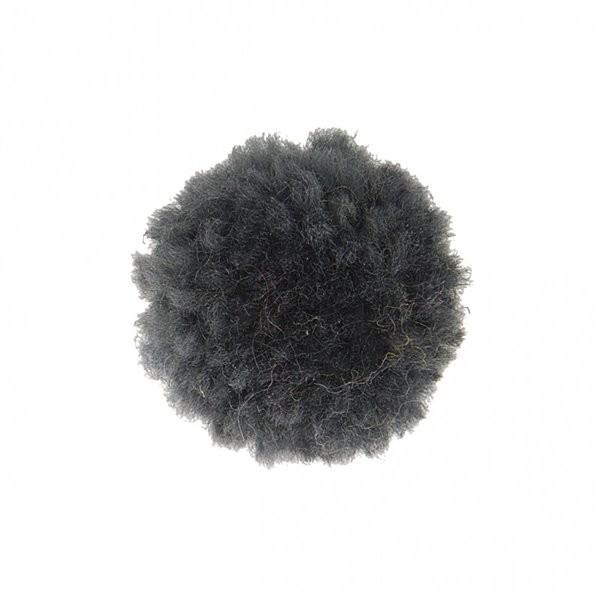 Lot de 12 pompons bouclés gris cendre 25mm - Photo n°1
