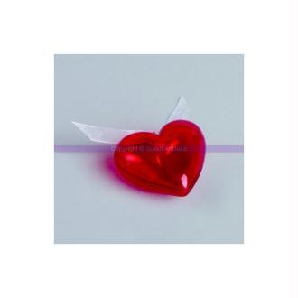 Coeur de 6,5 cm en plastique rouge, séparable, Contenant sécable