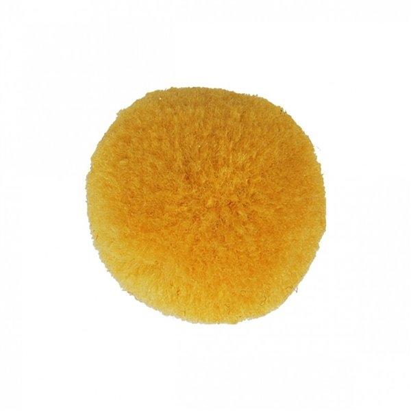 Lot de 9 pompons doux jaune maïs 25mm - Photo n°1