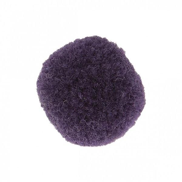 Lot de 9 pompons doux violet lilas 25mm - Photo n°1