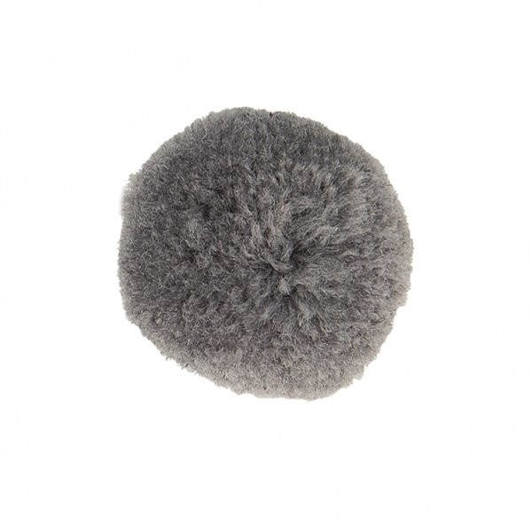 Lot de 9 pompons doux gris cendre 25mm - Photo n°1