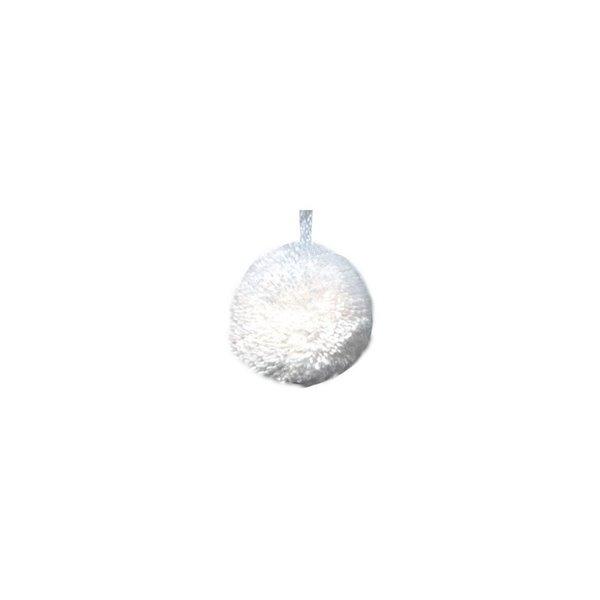 Lot de 24 pompons ronds 18mm Blanc - Photo n°1