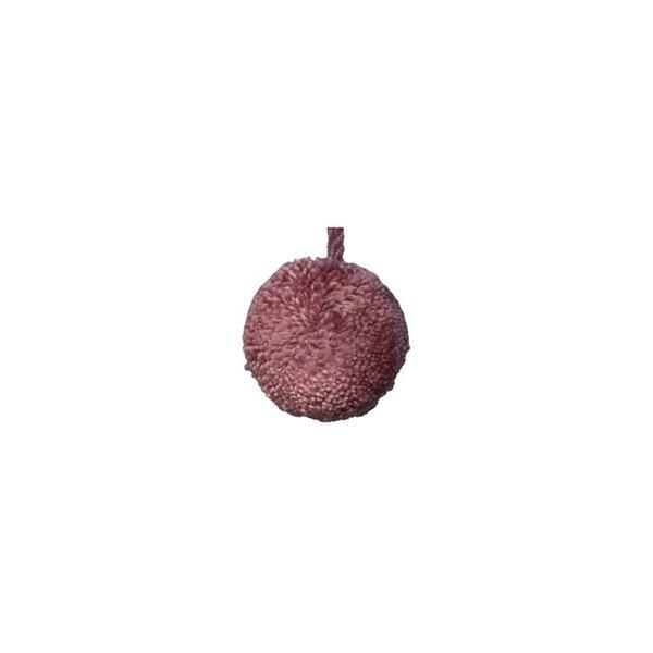 Lot de 24 pompons ronds 18mm Vieux Rose - Photo n°1