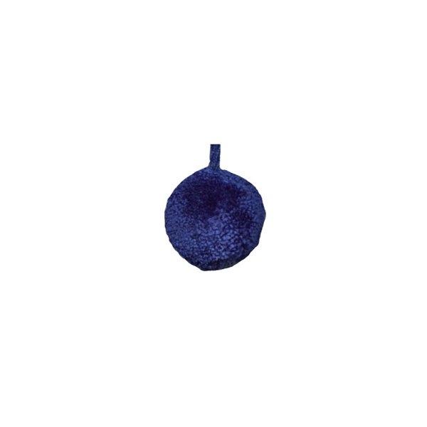 Lot de 18 pompons ronds 30mm Bleu Roy - Photo n°1