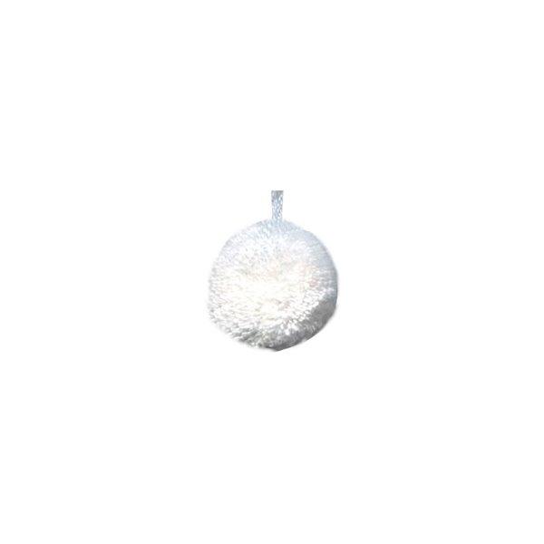 Lot de 12 pompons ronds 40mm Blanc - Photo n°1