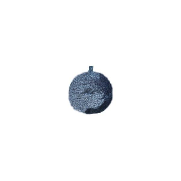 Lot de 12 pompons ronds 40mm Bleu - Photo n°1