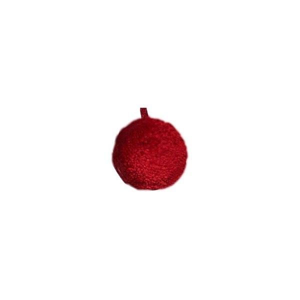 Lot de 12 pompons ronds 40mm Rouge - Photo n°1