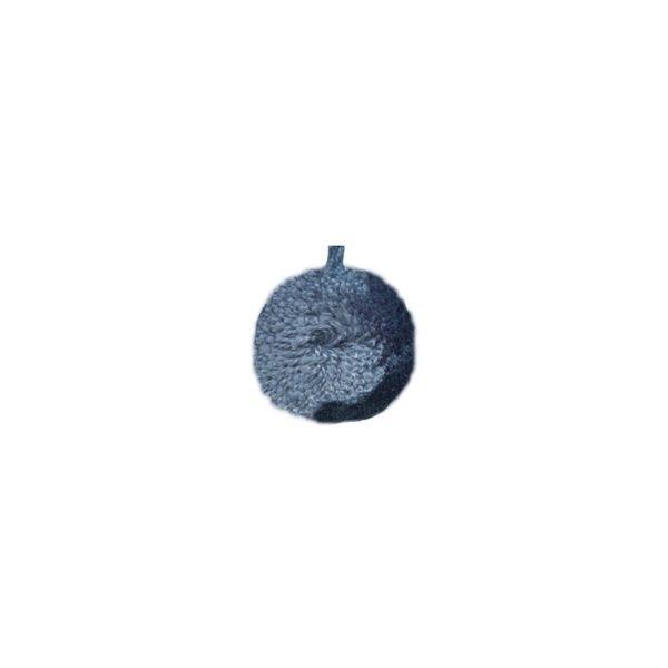 Lot de 6 pompons ronds 60mm Bleu - Photo n°1
