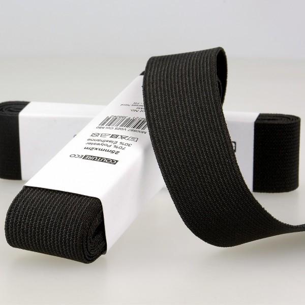 Elastique Noir 20mm x 2m - Photo n°1