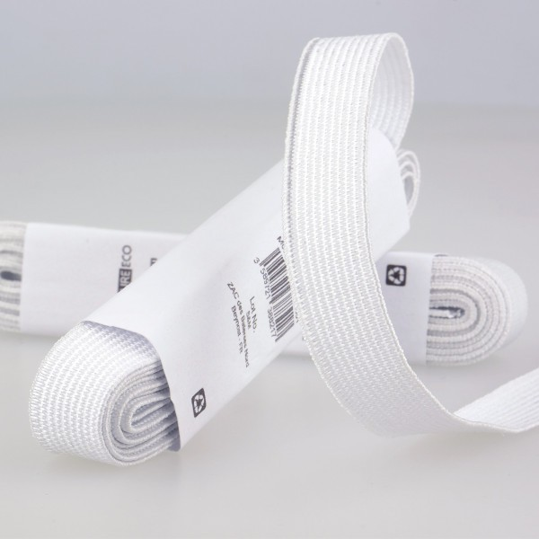 Elastique Blanc 25mm x 2m - Photo n°1