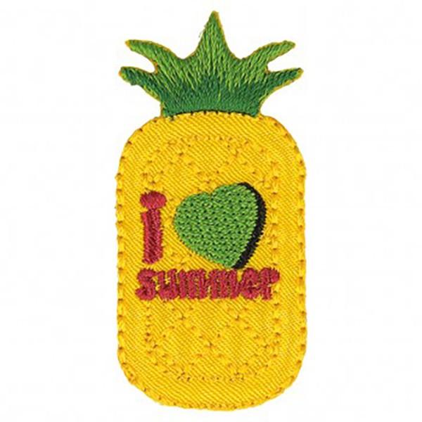 Ecusson thermocollant ananas 2,5x5cm - Photo n°1