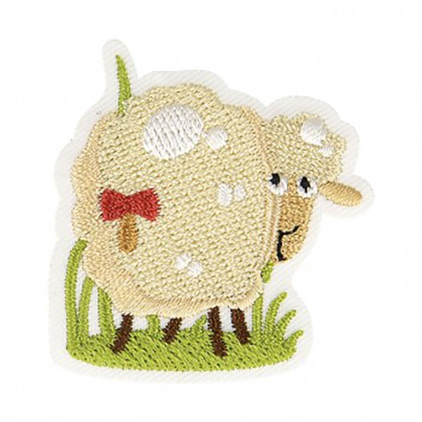 Ecusson thermocollant mouton 4x4,5cm - Photo n°1