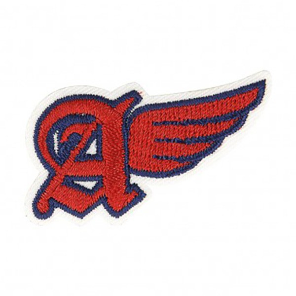 Ecusson thermocollant A avec ailes rouge 3,5x2cm - Photo n°1