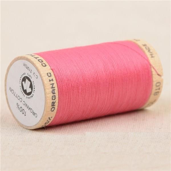 Bobine de fil 100% coton bio 275m rose bonbon - Photo n°1