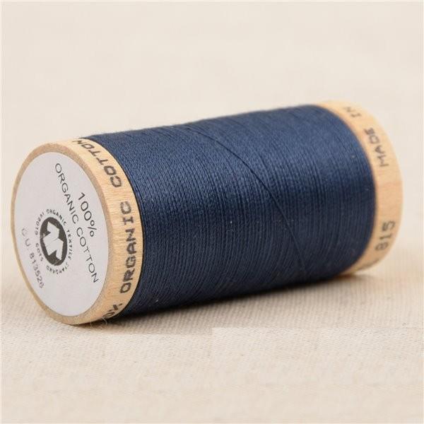 Bobine de fil 100% coton bio 275m marine - Photo n°1