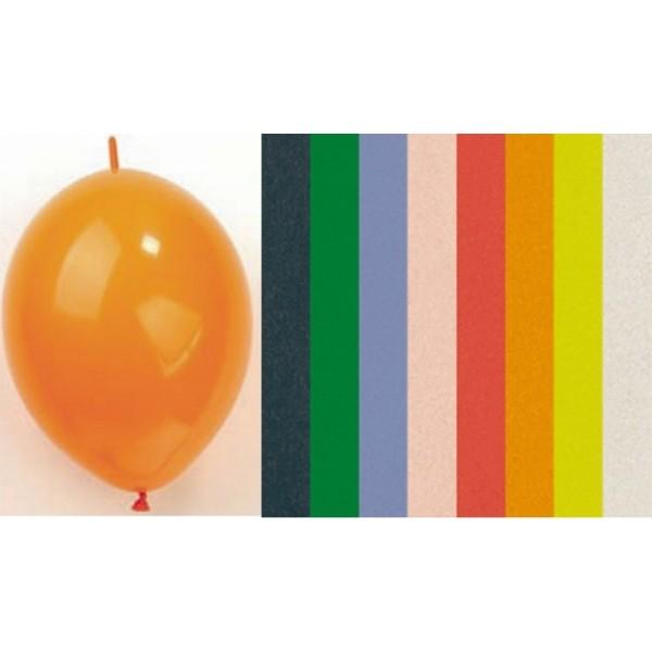 Ballon de baudruche connecteur, 30 cm, lot de 20 pièces, couleurs assorties - Photo n°1