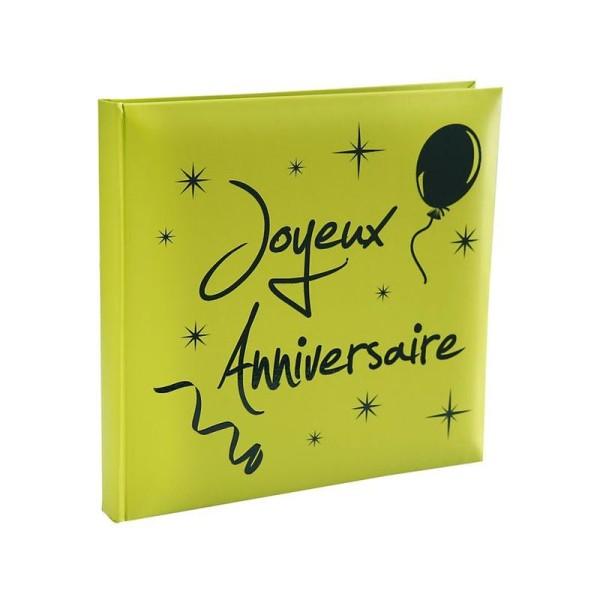 Livre d or vert anis joyeux anniversaire - Photo n°1