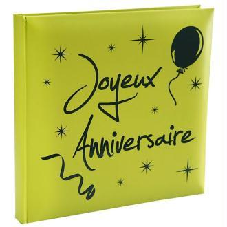 Livre d or vert anis joyeux anniversaire